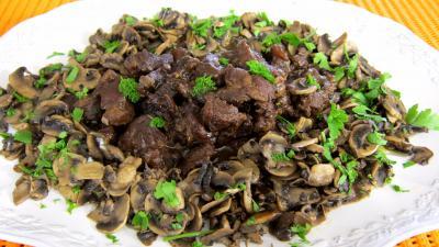 Recette Ragoût de boeuf aux champignons à la juive