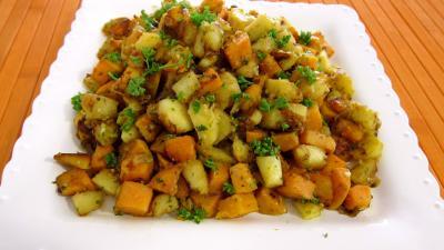 Image : Assiette de panais et patates douces aux épices