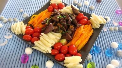 Recette Allumettes de carottes et topinambours en salade