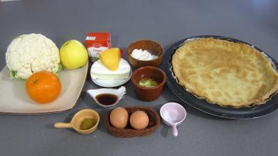 Ingrédients pour la recette : Clafoutis au chou-fleur et camembert