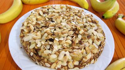 Recette Gâteau aux amandes et aux bananes