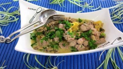 Recette Filets mignon de porc ananas et crème de coco