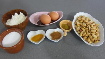 Ingrédients pour la recette : Biscotti aux cacahuètes