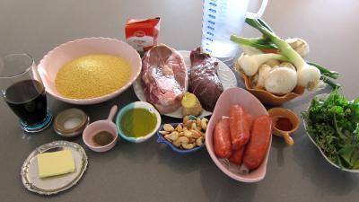 Ingrédients pour la recette : Autruche et agneau en civet