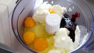 Gâteau aux fromages à la purée fraises, myrtilles, cassis Vitabio - 4.2