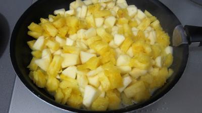 Boudins aux pommes et ananas à la purée de framboises Vitabio - 11.2