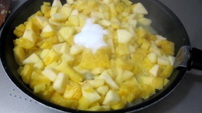 Boudins aux pommes et ananas à la purée de framboises Vitabio - 11.4