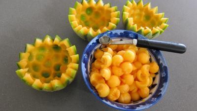 Cocktails perles de melon au porto - 2.3