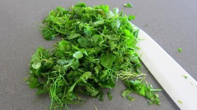 Fines herbes et légumes en velouté - 5.1