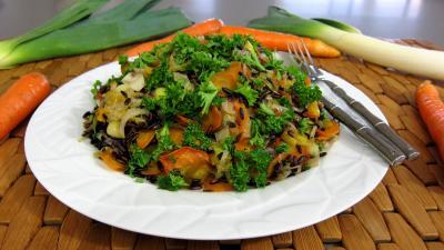 Recette Riz aux petits légumes