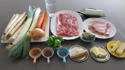 Ingrédients pour la recette : Escalopes de veau gratinées aux fromages
