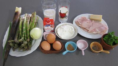 Ingrédients pour la recette : Pousses de bambou et asperges gratinées