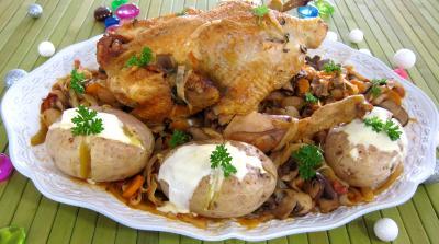 Recette Faisan au chou et aux carottes