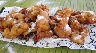 Recette Assiette de beignets de fleurs d'acacia