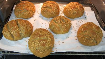 Boules de pains au levain à l'ancienne - 8.1
