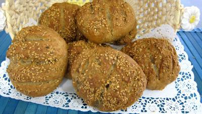 seigle grains céréaliers : Boules de pain au levain à l'ancienne