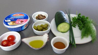 Ingrédients pour la recette : Concombre en amuse-bouche