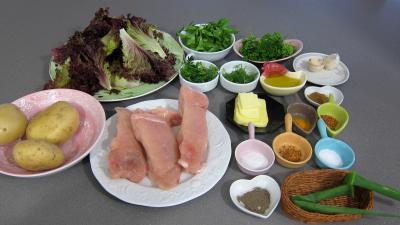Ingrédients pour la recette : Fingers de poulet et ses galettes de laitue