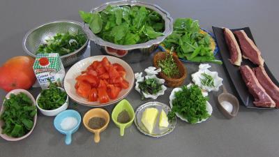 Ingrédients pour la recette : Magrets de canard à la plancha et ses épinards