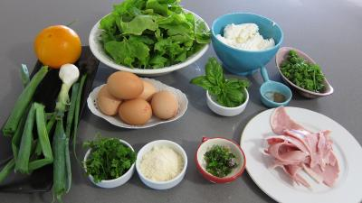 Ingrédients pour la recette : Roulé au fromage et aux épinards