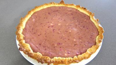 Tarte au fromage nature avec fraises et framboises - 7.1