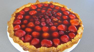 Tarte au fromage nature avec fraises et framboises - 8.1