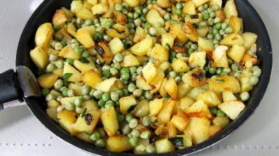 Frittata aux pommes de terre et petits pois - 6.3