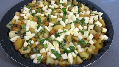 Frittata aux pommes de terre et petits pois - 8.2