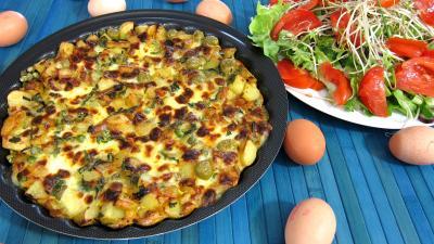 Frittata aux pommes de terre et petits pois - 9.2