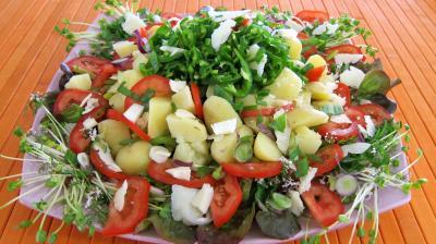 Recette Piments doux en salade