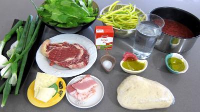 Ingrédients pour la recette : Pizza à l'oseille et aux haricots beurre