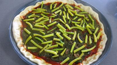 Pizza à l'oseille et aux haricots beurre - 9.3