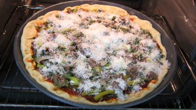 Pizza à l'oseille et aux haricots beurre - 10.3