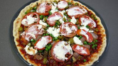 Pizza aux petits pois et aubergines - 10.2