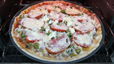 Pizza aux petits pois et aubergines - 10.4