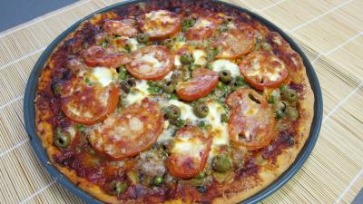 Pizza aux petits pois et aubergines - 11.2