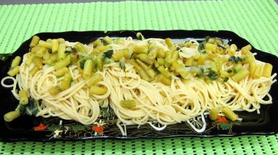 Pâtes spaghettis aux haricots beurre - 8.2