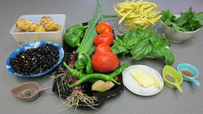 Ingrédients pour la recette : Blanquette de légumes