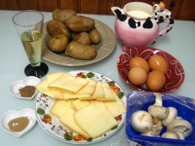 Ingrédients pour la recette : Pommes de terre à la raclette