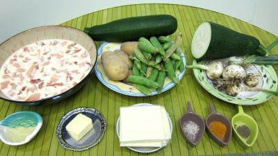 Ingrédients pour la recette : Gaufres salées aux courgettes