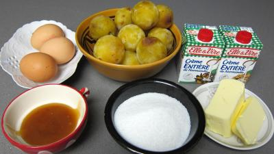 Ingrédients pour la recette : Crème glacée aux prunes jaunes