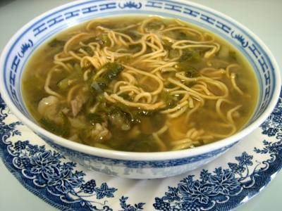 Recette Soupe de boeuf et nouilles façon chinoise