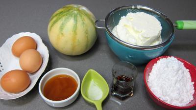 Ingrédients pour la recette : Verrines de melon au fromage blanc