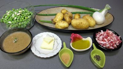 Ingrédients pour la recette : Pommes de terre à la sauce blanche