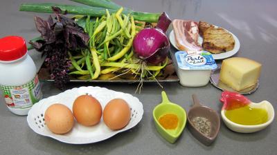 Ingrédients pour la recette : Haricots verts au four gratinés