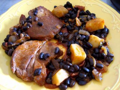 Recette Epaule de veau aux haricots noirs