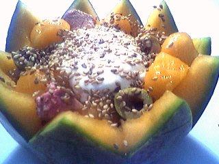 Recette Salade de melon aux graines de sésame