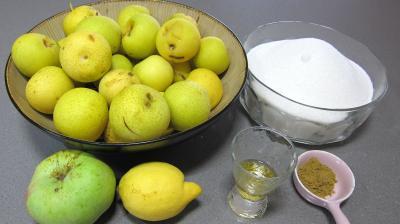 Ingrédients pour la recette : Confiture de nashis à l'anis