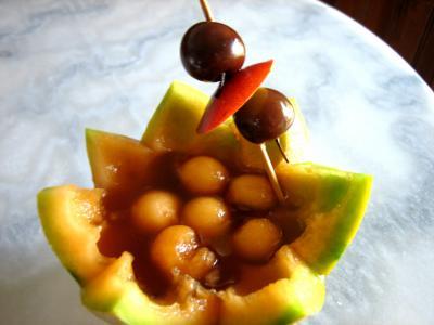 sirop de noix de coco : Cocktail de melon au Marsala