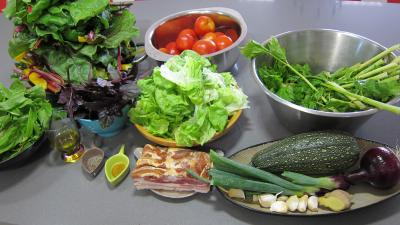 Ingrédients pour la recette : Conserve de ragoût de blettes et d'oseille au basilic